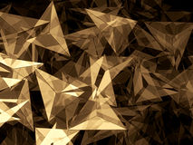 Abstract geometric background - digitally generated image. Abstract geometric background - computer-generated image. Fractal art: chaos triangles of different vector illustration