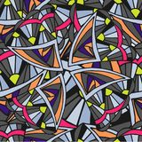 Abstract geometric background of Doodle pattern stock image