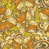 Abstract geometric background of Doodle patterns stock photography