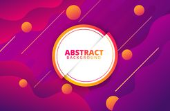 Abstract geometric background. Dynamic shapes composition royalty free illustration