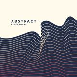 Abstract geometric background with dynamic waves. Vector illustration Stock Image