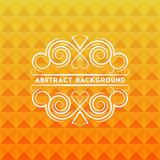 Abstract geometric background. With elegant calligraphic floral frame for your design royalty free illustration