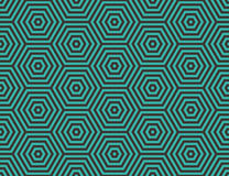 Abstract geometric background. Embedded hexagons. Royalty Free Stock Photos