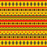 Abstract geometric background with ethnic ornament. Ethnic boho seamless pattern. Tribal art print. Colorful border background texture. Fabric, cloth design Stock Photo