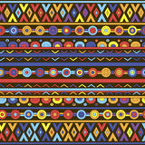 Abstract geometric background with ethnic ornament. Ethnic boho seamless pattern. Tribal art print. Colorful border background texture. Fabric, cloth design Royalty Free Stock Photography