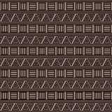 Abstract geometric background with ethnic ornament. Ethnic seamless patterns. Printing on tribal patterns. Fabric, fabric design, wallpaper packaging Royalty Free Stock Image