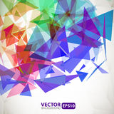 Abstract geometric background with explosion Royalty Free Stock Image