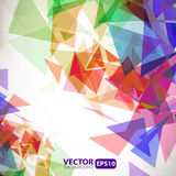 Abstract geometric background with explosion Stock Images