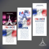 Abstract geometric background flag of France Stock Images