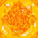 Abstract geometric background. Geometric shapes in yellow, red, orange colors. Futuristic style geometric pattern. Vector Stock Photo