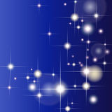 Abstract geometric background with glittering stars Stock Image