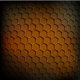 Abstract geometric background glow. Vector geometric background honey comb shape Stock Photo
