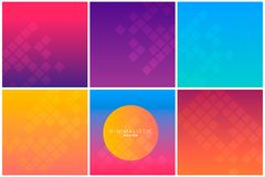 Abstract geometric background in gradient tones. Cool gradients. Future geometric template. Can use for business data report, presentation, web page, brochure Stock Photo
