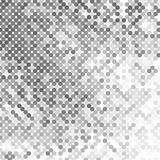Abstract geometric background with gray circles. Halftone effect royalty free illustration