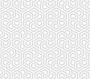 Abstract geometric background gray and white hexagons. Seamless neutral background gray and white hexagons. Abstract geometric pattern, illustration, vector Stock Photo
