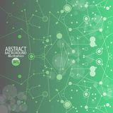 Abstract geometric background green from circles and lines.  royalty free illustration