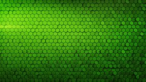 Geometric background with green hexagons abstract 3D render. Abstract geometric background with green hexagons. Computer generated abstract graphics. 3D render Stock Illustration