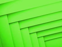 Abstract geometric background with green layers Stock Photos