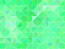 Abstract geometric background with green triangles. Polygon pattern, Vector illustration Vector Illustration