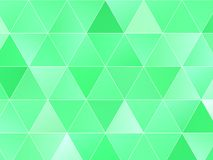 Abstract geometric background with green triangles. Polygon pattern, Vector illustration Stock Illustration