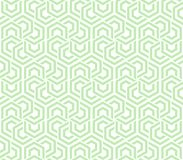 Abstract geometric background green and white hexagons. Seamless neutral background green and white hexagons. Abstract geometric pattern, illustration, vector Stock Image