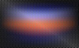 Geometric background, mesh, metal grille with orange tint. Abstract geometric background, grid, metal grille with orange tint Stock Images