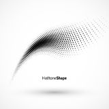 Abstract geometric background. Halftone background black and waite Stock Image