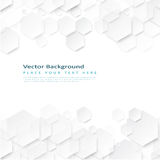 Abstract geometric background with hexagons stock illustration