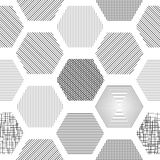 Abstract geometric background with hexagons Royalty Free Stock Photos