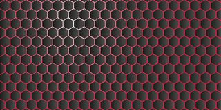 Abstract geometric background from hexagons vector Royalty Free Stock Images