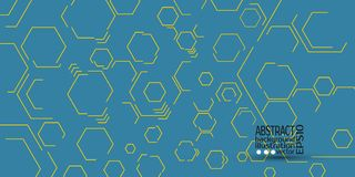 Abstract geometric background from hexagons vector.  Royalty Free Stock Photos