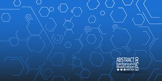 Abstract geometric background from hexagons vector.  Stock Photos