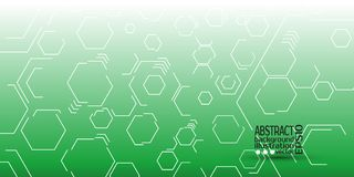 Abstract geometric background from hexagons vector.  Stock Image
