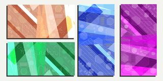 Abstract geometric background from hexagons vector eps10.  Royalty Free Stock Images