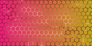 Abstract geometric background from hexagons vector for screensaver.  Stock Images