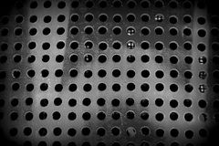 Black and white dirty dots background. Abstract geometric background. Holed surface. black and white tones and holes royalty free stock image