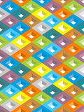 Abstract geometric background. Infinite abstract background with lozenge motifs, colored pattern Royalty Free Stock Photography