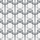 Abstract geometric background with isometric cubes. Seamless vector pattern, geometric background with isometric cubes, monochrome 3d repeating texture Royalty Free Stock Image