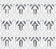 Abstract geometric background with isometric cubes. Seamless vector pattern, geometric background with isometric cubes, monochrome 3d repeating texture Stock Image