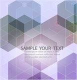 Abstract geometric background with lilac hexagons. With an example of text. Vector for your design Royalty Free Stock Photo