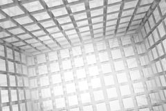 Abstract geometric background made of gray cubes. Abstract geometrical background made of gray cubes Stock Photos
