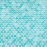 Abstract geometric background on the marine theme. Seamless waves blue pattern or squama texture. Stock Photography