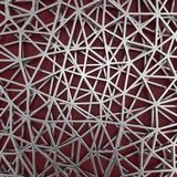 Abstract geometric background with metal grid. 3D illustration Stock Images