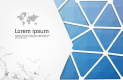 Abstract geometric background. Modern overlapping triangles. Unusual color shapes for your message. Business or tech presentation. App cover template royalty free illustration
