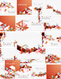 Abstract geometric background. Modern overlapping Royalty Free Stock Image