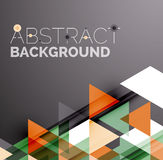 Abstract geometric background. Modern overlapping Royalty Free Stock Images