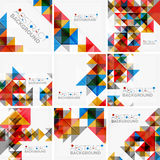 Abstract geometric background. Modern overlapping Royalty Free Stock Photography
