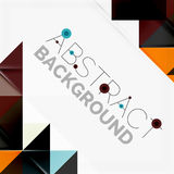 Abstract geometric background. Modern overlapping Royalty Free Stock Photo