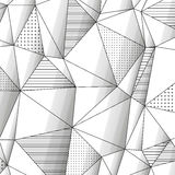 Abstract geometric background with monochrome Royalty Free Stock Images