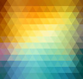 Abstract geometric background with orange, blue and yellow triangles. Summer sunny design. Abstract geometric background with orange, blue and yellow triangles Stock Photography